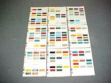 1968 CHEVROLET GMC FORD DODGE JEEP TRUCK PAINT CHIPS COLOR CHART BROCHURE 68