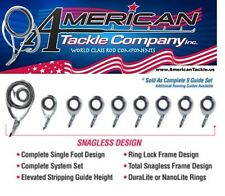 American Tackle MicroWave Tidal Wave Casting Guides- Titanium (NOIMW-SET-C)