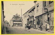 cpa Rare RAMBOUILLET Rue de PARIS Café Épicerie DOCK MILITAIRE E. LEMÉE Trike