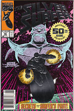 Silver Surfer #50 Silver-Foil Cover Thanos, Infinity Gauntlet  1ST PRINTB154-9
