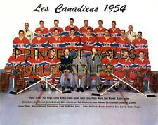 1954 MONTREAL CANADIENS TEAM PHOTO 8X10
