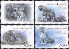 Kyrgyzstan 2012 Snow Leopard/Cats/Animals/Nature/Wildlife 4v set (b6449g)