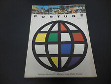 Fortune Magazine October 1957 Globe U.S. Business in the World Markets