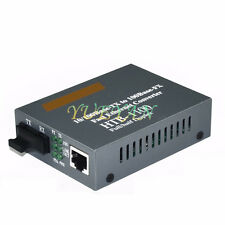 2KM Fiber Transceiver Optical Media Converter 10/100Mbps RJ45 Multi-Mode SC Port