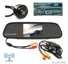 "2.4GHz Wireless 4.3"" Mirror Display + Rotatable Reverse Camera 170° Wide Angle"