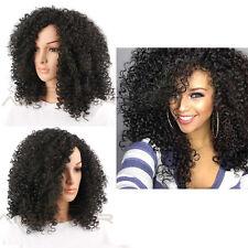 55.9cm Afro Kinky Ricci Sintetico Nero Onda Capelli Parrucche Per Da Donna