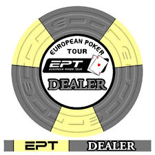 Dealer button ceramica EPT - European Poker Tour Replica 2007 bordo allineato
