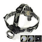 Rechargeable XM-L XML T6 LED 2000LM Zoomable 18650 Headlamp Headlight Torch