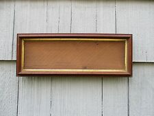 Antique Walnut Long Picture Frame with Glass fits 5-1/2 x 18-1/2