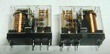 2 x Omron G2R-2-110VAC DPCO PCB mount  relay 110V