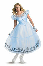 Brand New Disney Alice in Wonderland Alice Deluxe Adult Halloween Costume