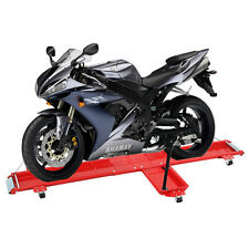 Low Profile 1250 Lb. Motorcycle Dolly Storage Cart w/ Swivel Casters Kickstand