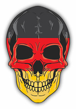 "Skull Flag Germany Car Bumper Sticker 4"" x 5"""