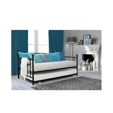 Twin Daybed With Trundle Sofa Bed Metal Antique Bronze Rustic Day Frame Dorm NEW