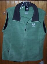 Ground Women's Large L Rift Willow Green & Grey Fleece Vest