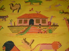 "~BTY~ ""NOAH'S ARK"" ANIMALS PRIMITIVE~COTTON UPHOLSTERY FABRIC FOR LESS~"