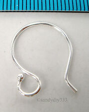 4x STERLING SILVER EARRINGS FRENCH HOOK 0.9mm 19GA EAR WIRE #279