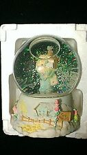 PRECIOUS MOMENTS MUSICAL SNOW GLOBE WATERBALL CHRISTMAS JINGLE BELLS MIB 6""