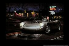 No Tell Motel Helen Flint James Dean Porsche art print 24x36 poster film movies