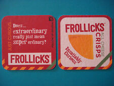 Beer COASTER ~^^~ General Mills FROLLICKS All Cheese Crisps ~ Insatiably Curious