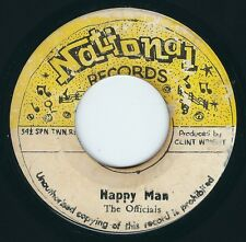 """The Officials - Happy Man / Music Music - National 7"""" 45T Rare 70's Reggae ♫"""
