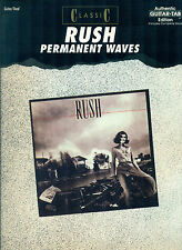 Rush book Permanent Waves Guitar Tab tablature Geddy Lee Alex Lifeson Neil Peart