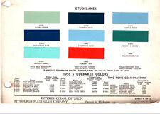 1955 1956 STUDEBAKER TRUCKS 55 56 PAINT CHIPS 5556DITZLER 3