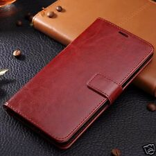 Luxury wallet stand Pu leather case flip cover LG G5 Brown Silicone Inne