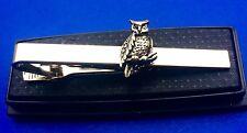 Owl Tie Clasp Wisdom Tie Bar