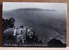 Porto S.Stefano - l'Argentarola e l'isola del Giglio [grande, b/n, viaggiata]
