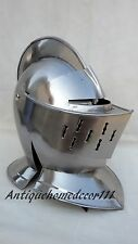 European Closed Helmet Medieval Knight Helm Larp Fancy Armour Costume Gift Item