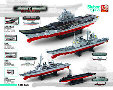 Sluban Chinese LiaoNing Aircraft Carrier Group Minifigures Building Blocks Toy