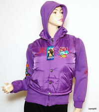 NWT ED HARDY GIRLS JACKET HOODIE COAT ~PURPLE *L (12)