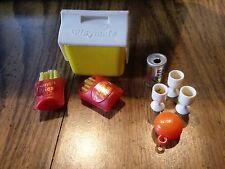 Toy Miniature Yellow White Playmate Cooler Barbie Picnic Lunch