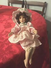 "Old Fashioned  Artist made  Sitting Porcelain Doll,11"" ,1999,"