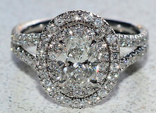 GIA Certified Flawless 2.00Ct Oval Shaped Diamond Engagement Ring 18K White Gold