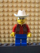 Lego Minifig ~ Zack Dandy ~ Wild West Western Cowboy Outlaws/Bandits 6755