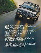 Cadillac Cimarron 1983 USA Market Mailer Sales Brochure