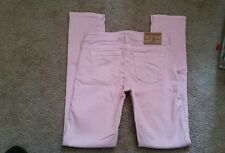 True Religion girls pink Casey jeans, size 12-EUC!