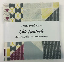 """Chic Neutrals by Amy Ellis for Moda  - fabric Charm Pack - 42 x 5"""" squares"""