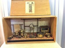 Antique Japanese Boxed Lacquerware Diorama