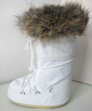 Tecnica MOON BOOT Romance weiß Gr. 31 - 34  Moon Boots Kunstfell Fell fake fur