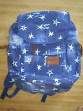 NEW* VOLCOM STUDENT BACKPACK BOOK SCHOOL BAG Laptop Sleeve Blue Stars Roxy