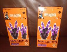 Halloween 20 Purple Mini Lights Indoor and Outdoor Set of 2