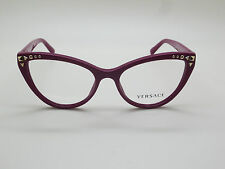 NEW Authentic VERSACE Mod. 3191 5067 Cyclamen 52mm RX Eyeglasses