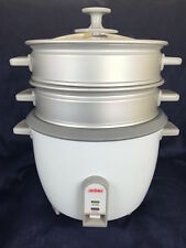 Aroma Pot-Style 10 Cup Rice Cooker/Food Steamer with cookbook, White