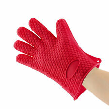 Kitchen Heat Resistant Silicone Glove Oven Pot Holder Baking BBQ Cooking Tool LE