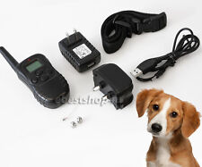 300 Yard Rechargeable Waterproof LCD Shock Vibra Remote Pet Dog Training Co