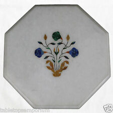 Size 1'x1' Marble Coffee Table Top Inlay Marquetry Mosaic Floral Decor