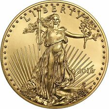 2016 Gold American Eagle (GAE) 1 Ounce (oz) $50 BU